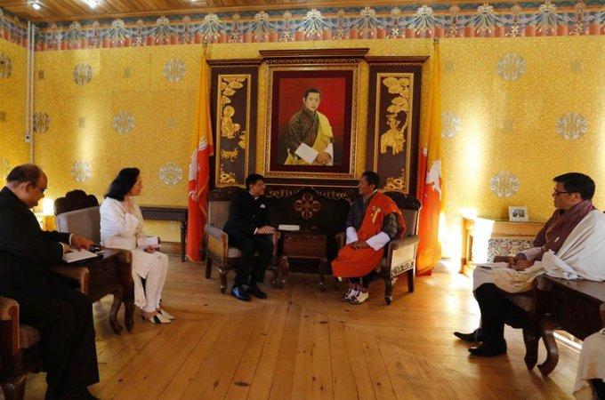 Union Minister Piyush Goyal called on Bhutan's PM Lotay Tshering in Bhutan on Friday.