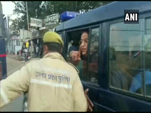 Senior SP leader Azam Khan was taken to Rampur from Sitapur jail, for hearing in a forgery case. Photo/ANI