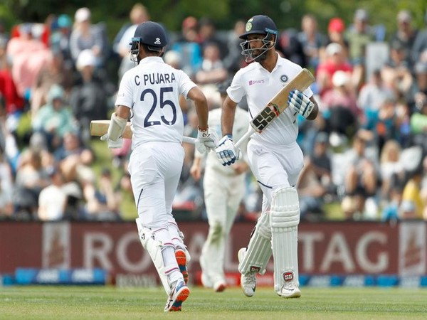 India's Hanuma Vihari and Cheteshwar Pujara in action against New Zealand (Photo/ BCCI Twitter)