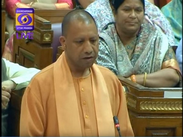 UP Chief Minister Yogi Adityanath while addressing the House on Wednesday [Photo/ANI]