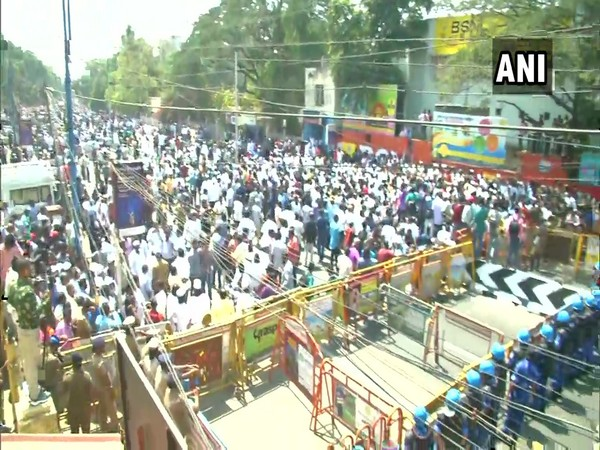 Protests were held in Coimbatore against CAA, NRC and NPR on Wednesday. Photo/ANI