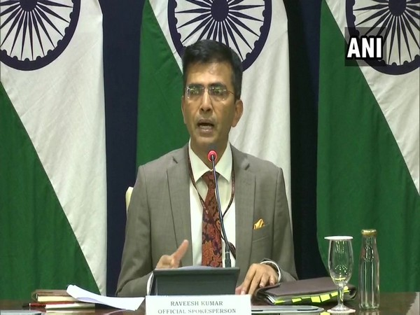 MEA Spokesperson Raveesh Kumar addressing a press briefing in New Delhi on Thursday. Photo/ANI