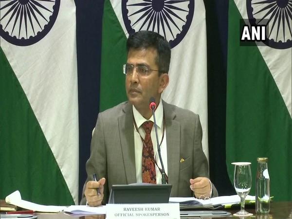 MEA spokesperson Raveesh Kumar addressing a press conference in New Delhi on Thursday. Photo/ANI