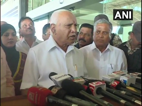 Karnataka CM BS Yediyurappa speaks to media in Bengaluru on Friday [Photo/ANI]