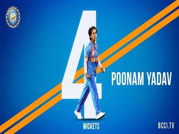 India's spinner Poonam Yadav (Photo/ BCCI Twitter)
