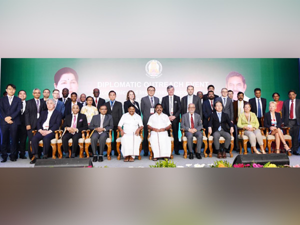 Tamil Nadu Chief Minister chaired the inaugural session of Diplomatic Outreach Summit on Investment Opportunities (Photo tweeted by MEA spokesperson)