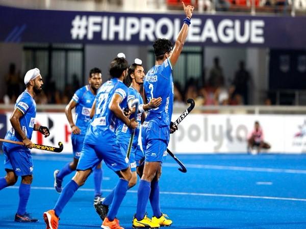 India men's hockey team in action against Australia (Photo/ Hockey India Twitter)