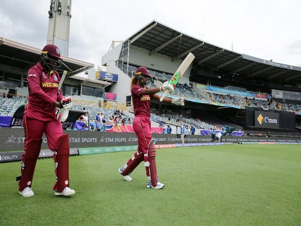 West Indies openers going out to bat against Thailand (Photo/ T20 World Cup Twitter)