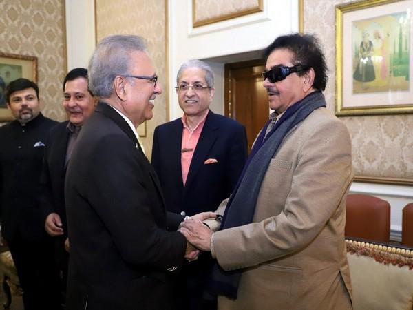 Congress leader Shatrughan Sinha met Pakistan President Arif Alvi in Lahore today.
