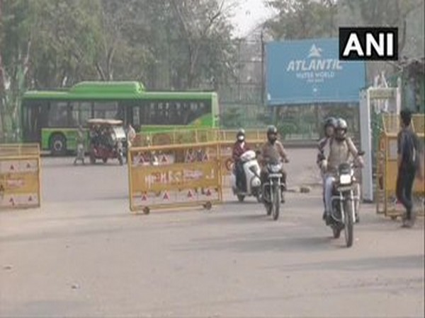Vehicular movement on Noida-Faridabad road, which was reopened on 21st February. Photo/ANI