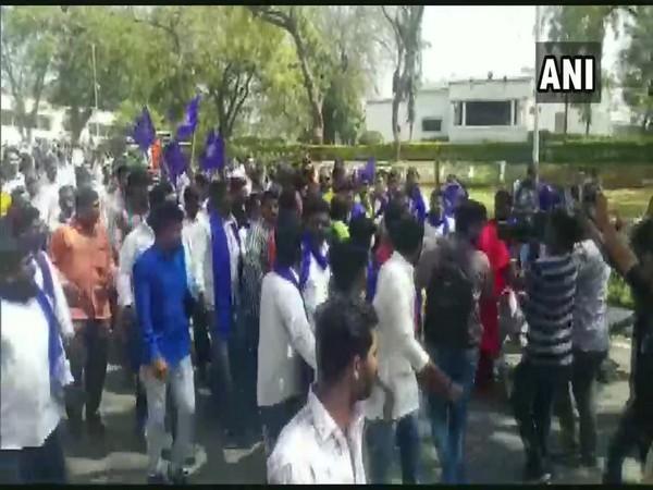 A rally led by Bhim Army's Chandrashekhar Azad in Aurangabad on Sunday [Photo/ANI]