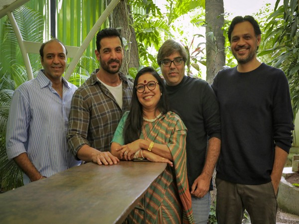 John Abraham with social entrepreneur Revathi Roy and other team members of the flick. (Image Source: Twitter)