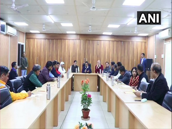 CM Arvind Kejriwal is holding a meeting with the officials and MLAs of the violence-affected areas of the city, at his residence. [Photo/ANI]