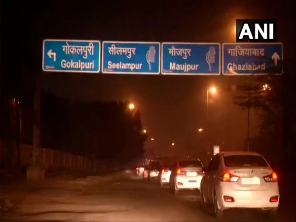 Visual from NSA Ajit Doval's late night visit to review security arrangements in Delhi. Photo/ANI