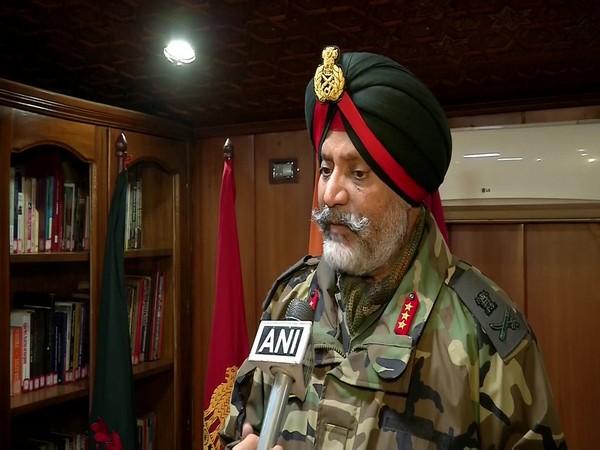 Lt Gen KJS Dhillon speaking to ANI on Wednesday. Photo/ANI