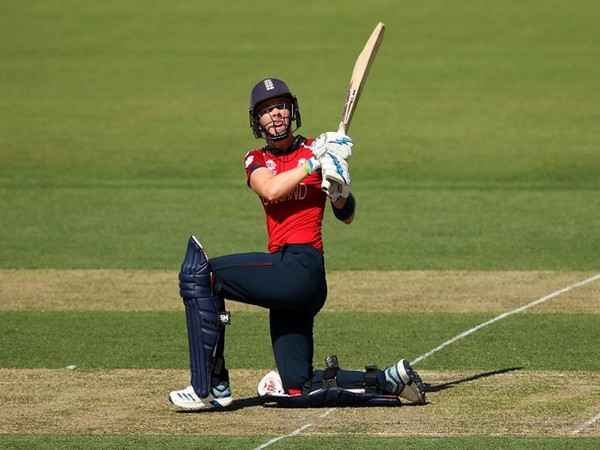 England's skipper Heather Knight in action against Thailand (Photo/ ICC Twitter)