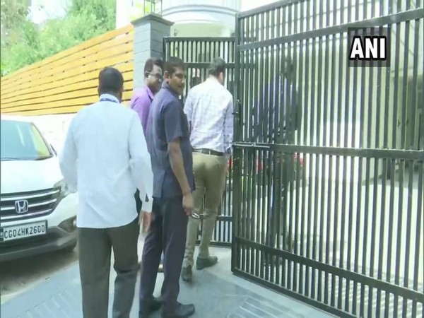 Officials while conducting raids in parts of Chhattisgarh on Thursday. Photo/ANI