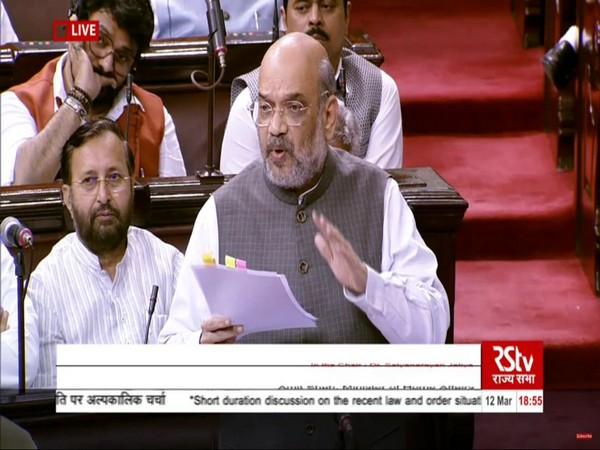 Union Home Minister Amit Shah in Rajya Sabha on Thursday.