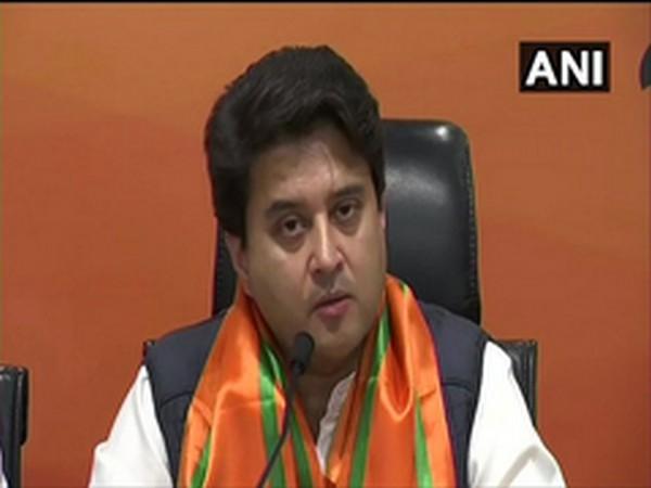 BJP leader Jyotiraditya Scindia. (File photo)