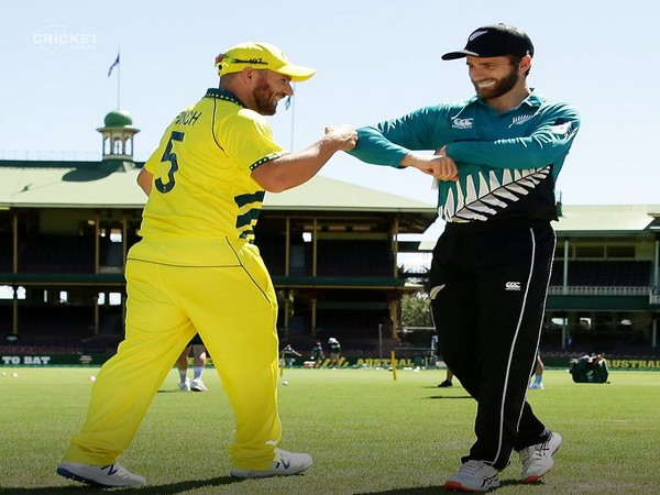 Aaron Finch and Kane Williamson during toss in first ODI at SCG (Photo/ cricket.com.au Twitter)