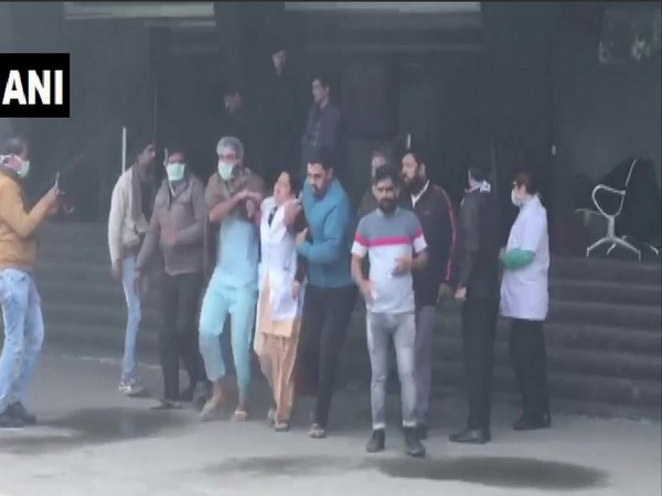 Patients being evacuated after fire broke out in Noida's ESIC hospital on Thursday