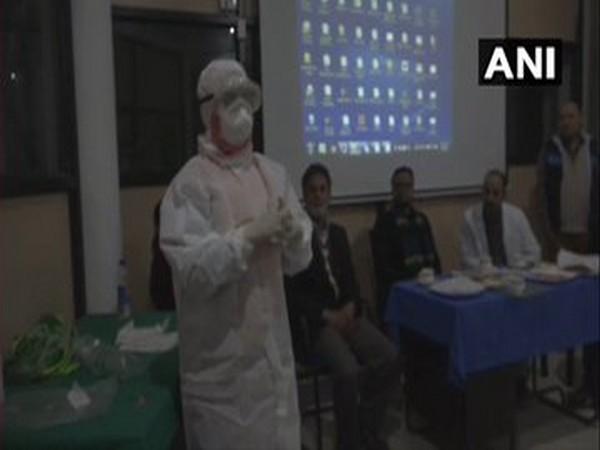 Paramedics educated about Coronvirus prevention in Doda, Jammu and Kashmir [Photo/ANI]