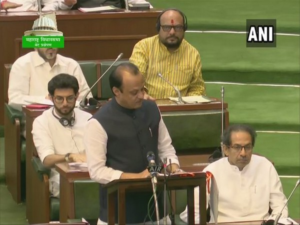 Maharashtra Deputy Chief Minister Ajit Pawar speaks in the state assembly on Friday [Photo/ANI]