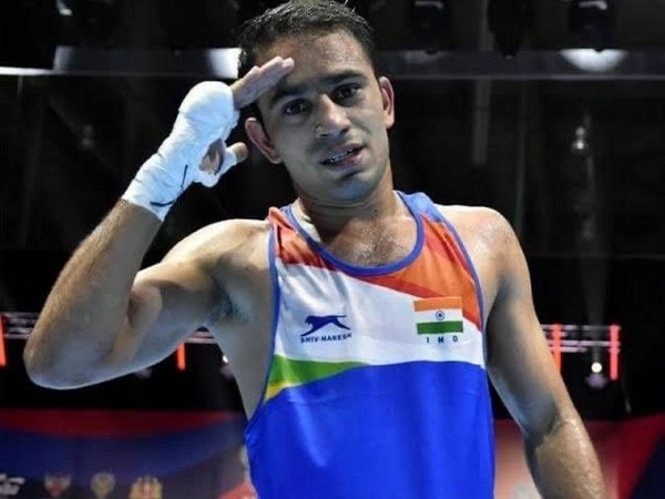 Indian boxer Amit Panghal (Photo/ SAI Media Twitter)