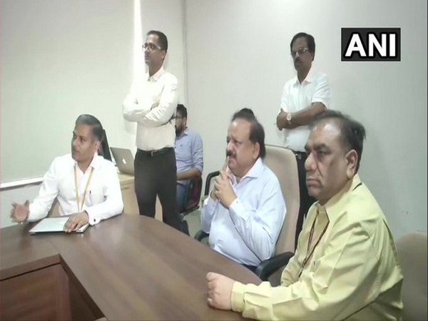 Union Health Minister Dr Harsh Vardhan holds a meeting with officials of the National Centre for Disease Control in Delhi. [Photo/ANI]