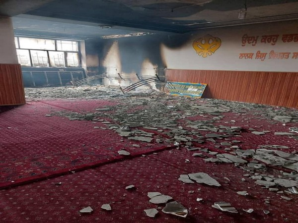 Inside of the Gurudwara attacked in Kabul on Wednesday (Picture Credits: Twitter/ANI)