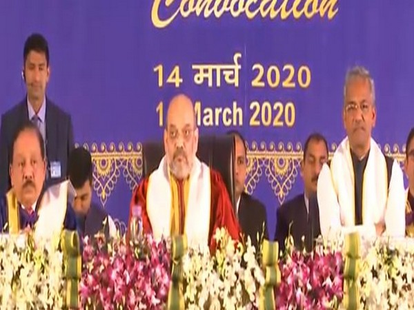 Union Home Minister Amit Shah attended the second convocation of AIIMS Rishikesh on Saturday. (Photo: BJP Twitter)