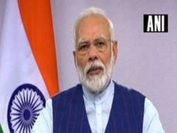 Prime Minister Narendra Modi exhorted everyone to work together and contribute fully to overcome the crisis of COVID-19. Photo/ANI