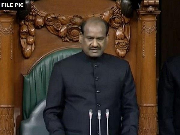Lok Sabha Speaker Om Birla speaking in the House on Friday. Photo/ANI