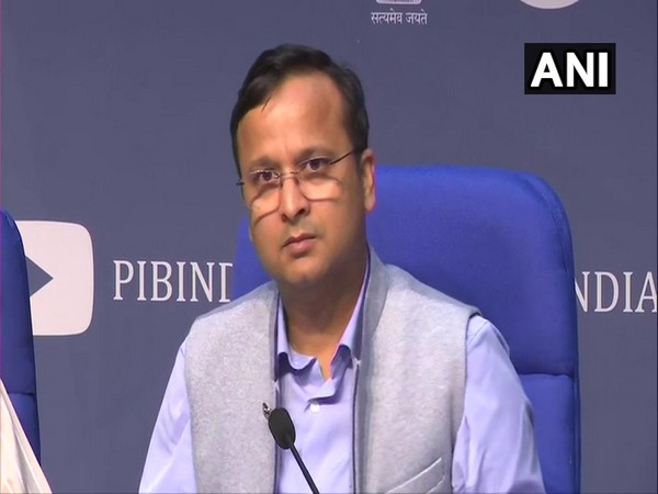 Lav Agarwal, Joint Secretary of Health Ministry holding a press conference in New Delhi on Friday.