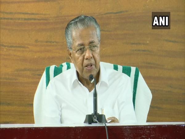 Kerala Chief Minister Pinarayi Vijayan addressing a press conference on Friday. Photo/ANI