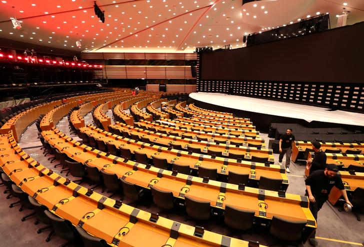 The European Parliament in Brussels, Belgium