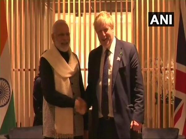 Prime Minister Modi with Prime Minister Johnson (File Photo)