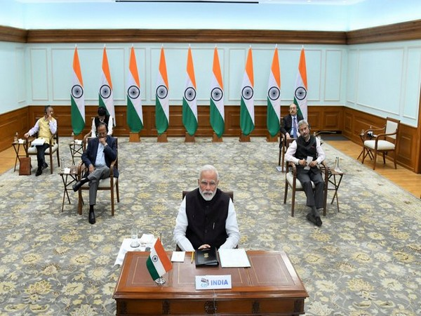 Prime Minister Narendra Modi, EAM S.Jaishankar, NSA Ajit Doval during the G20 leaders virtual summit on COVID-19