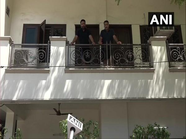 Amit Kapoor (left) speaking to ANI on Sunday in Agra.