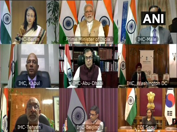 Prime Minister Narendra Modi during an interaction with heads of Indian missions