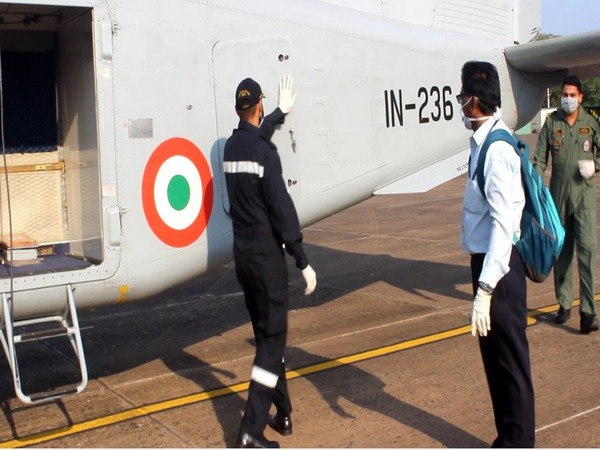 Samples carried by Indian Navy Dornier on Tuesday
