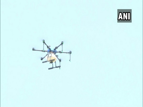 Drones being used to spray disinfectants in the area around COVID19 ward at Government Rajaji Hospital in Madurai