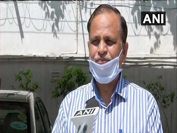 Delhi Health Minister Satyendar Jain speaks to ANI in New Delhi [Photo/ANI]