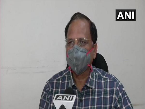 Delhi Health Minister Satyendar Jain speaking to ANI in New Delhi on Wednesday.