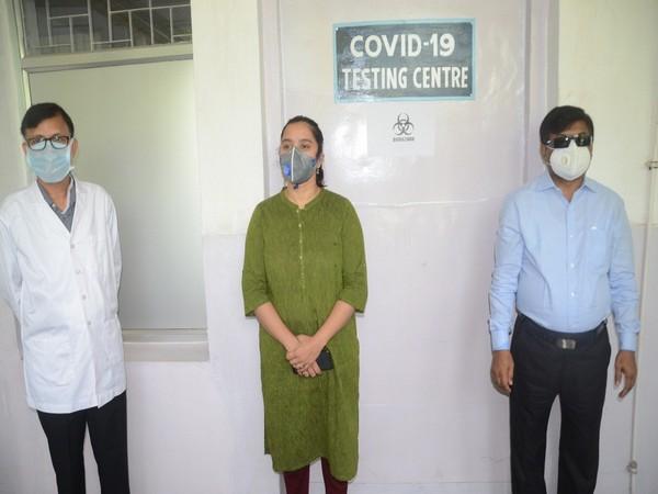 SAIL has set up a COVID-19 testing lab at Rourkela Steel Plant's IGH. Photo/ANI