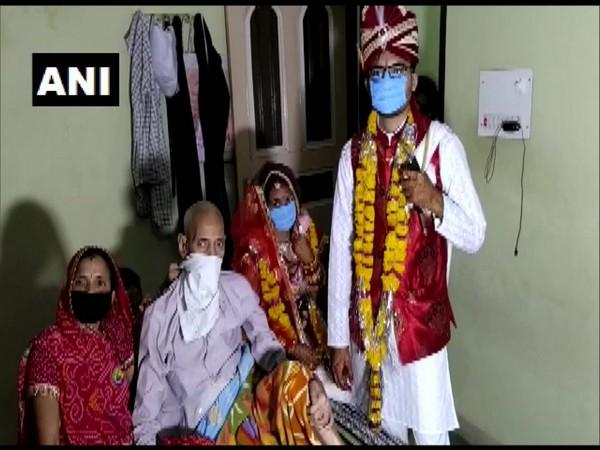 Couple tied knot in Madhya Pradesh's Indore amid lockdown (Photo/ANI)