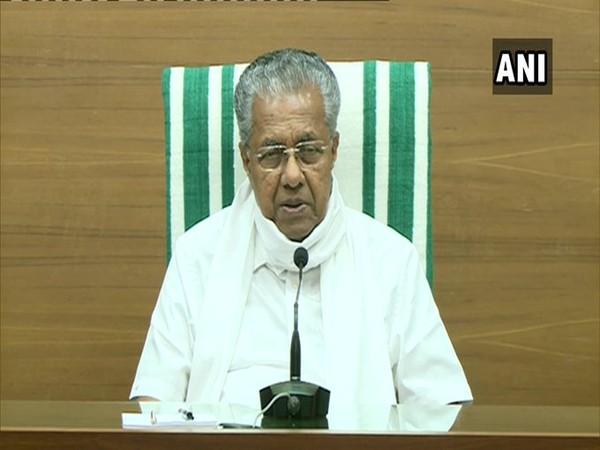 Kerala Chief Minister Pinarayi Vijayan speaking to reporters on Thursday. Photo/ANI