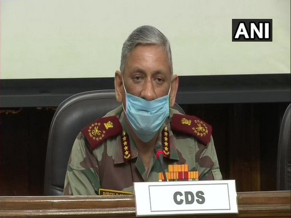 Chief of Defence Staff General Bipin Rawat addressing a press conference in New Delhi on Friday. Photo/ANI