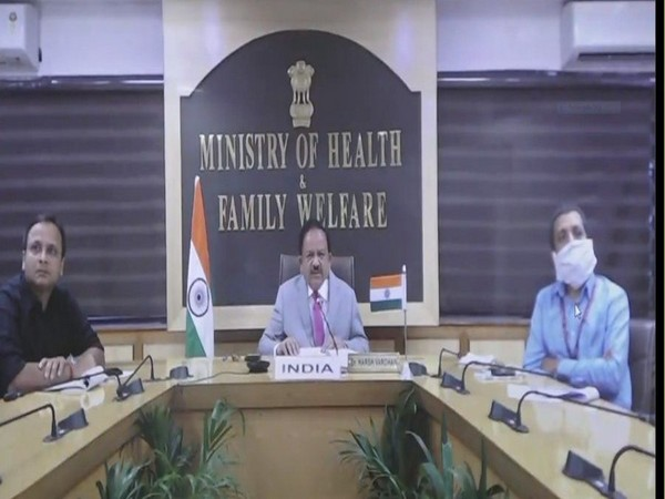Union Health Minister Dr Harsh Vardhan during the G20 Health Ministers' meet