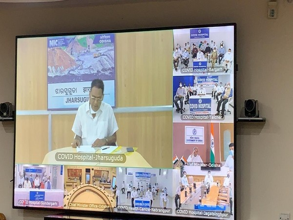 The launch program of five COVID-19 hospitals in Odisha through video conferencing.
